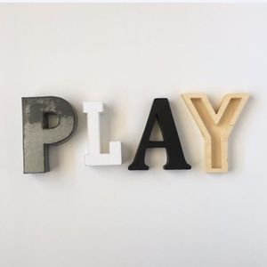 Other - PLAY Sign Letters Wall Hanging Shelf Decor